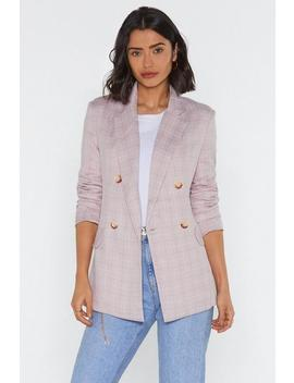 To Check With It Blazer by Nasty Gal