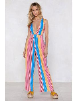 Best Beaches Striped Cover Up Jumpsuit by Nasty Gal