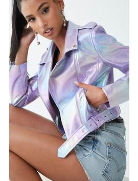 Iridescent Moto Jacket by Forever 21