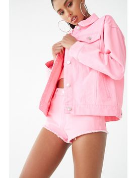 Neon Denim Jacket by Forever 21