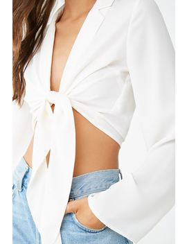 notched-tie-front-crop-top by forever-21