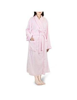 Premium Women Fleece Robe With Satin Trim | Luxurious Super Soft Plush Bathrobe by Pavilia