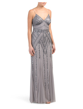 Long Beaded Gown by Tj Maxx