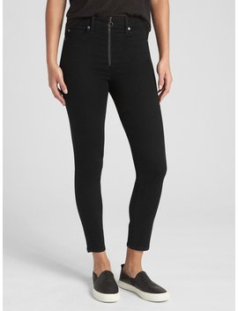 High Rise True Skinny Ankle Jeans With Secret Smoothing Pockets by Gap