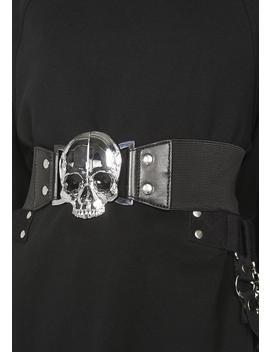 Elastic Waist Skull Belt by Kreepsville 666