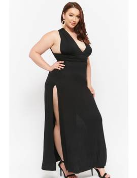 Plus Size Convertible Halter Maxi Dress by Forever 21