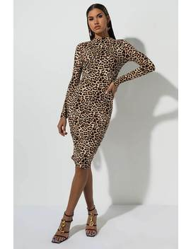 Could Be Yours Leopard Mini Dress by Akira