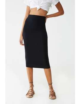 High Waist Midi Skirt by Forever 21