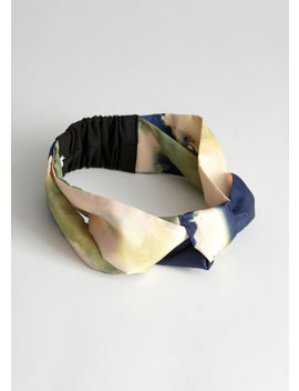Watercolour Knotted Hairband by & Other Stories
