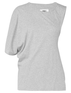 Asymmetric Twist Back Cotton Jersey T Shirt by Mm6 Maison Margiela