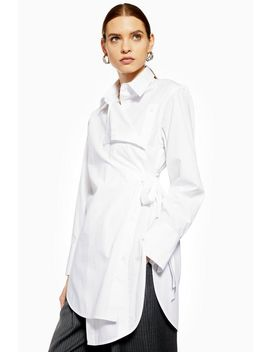 **Poplin Wrap Shirt By Boutique by Topshop