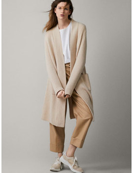 Textured 100 Percents Cashmere Coat by Massimo Dutti