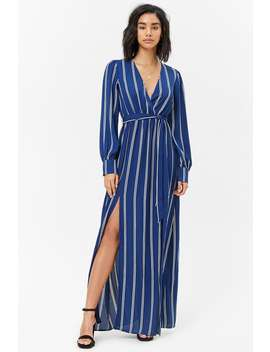 Striped M Slit Maxi Dress by Forever 21