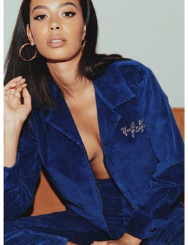 Afends Erin Bomber Jacket Twilight Blue by Afends