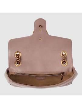 حقيبة كتف جي جي مارمونت من الجلد المبطن by Gucci