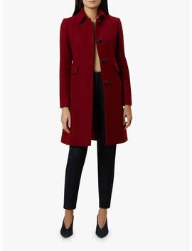 Hobbs Evalina Coat, Burgundy by Hobbs