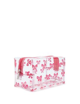 Transparent Bow Print Makeup Bag by Forever 21