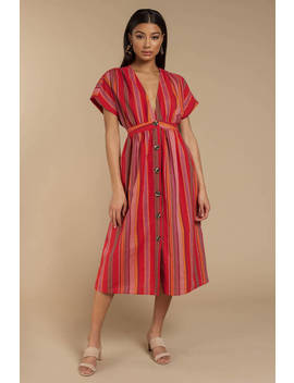 Ticket To La Multi Midi Dress by Tobi
