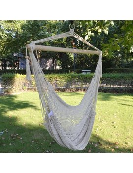 Sunrise Outdoor Patio Hanging Swing Cotton Rope Hammock Chair, Up To 260 Lbs by Sunrise Umbrella