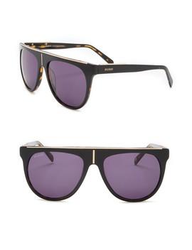 57mm Brow Bar Sunglasses by Balmain