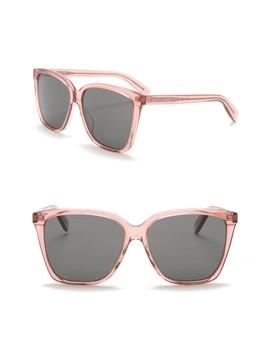 56mm Square Sunglasses by Saint Laurent