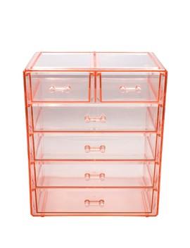 Pink Makeup & Jewelry Storage Case Display by Sorbus