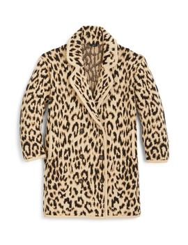 Double Breasted Leopard Sweater Coat by J. Crew