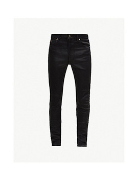 Coated Slim Fit Super Skinny Jeans by Gucci