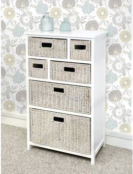 Tetbury Storage Unit, Large Chest Of Drawers, Storage Baskets, Fully Assembled by Ebay Seller