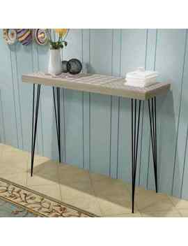 Narrow Console Table Telephone Stand End Sideboard 90x30x71.5 Cm Brown/Grey Chic by Ebay Seller