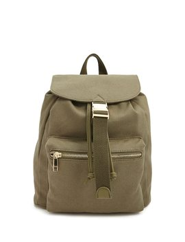 Canvas Flap Top Backpack by Forever 21