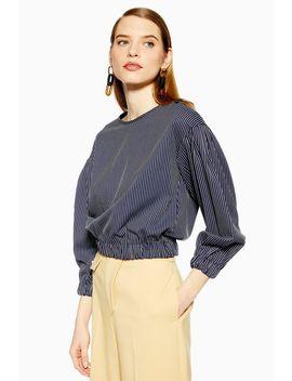 Stripe Sweatshirt Top by Topshop