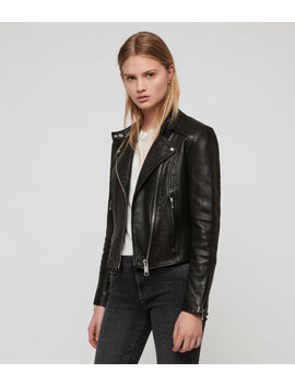 Bircham Leather Biker Jacket by Allsaints
