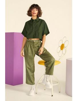 Nasty Gal Vintage Reporting For Duty Cropped Shirt by Nasty Gal