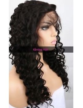 """Pre Plucked Full Lace Wig Brazilian Deep Wave Hair 22"""" by Ebay Seller"""
