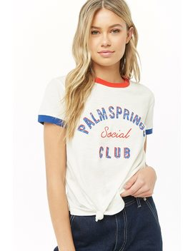 Palm Springs Graphic Ringer Tee by Forever 21