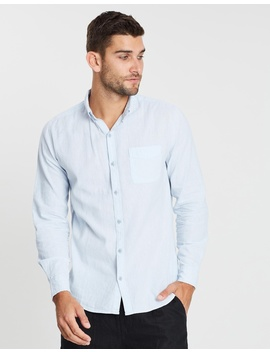 Premium Linen Cotton Long Sleeve Shirt by Cotton On