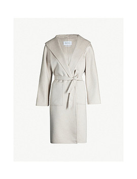 Lilia Brushed Cashmere Wrap Coat by Max Mara