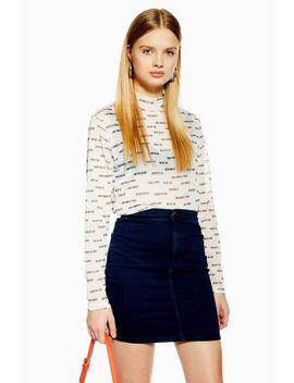 Tall Joni Denim Skirt by Topshop