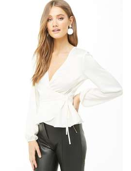 Satin Wrap Top by Forever 21