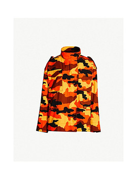 Camouflage Print Cotton Twill Jacket by Off White C/O Virgil Abloh