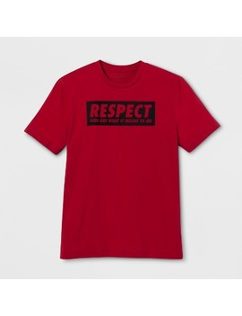 Lyric Culture Adult Short Sleeve Respect T Shirt   Red by Lyric Culture