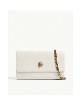 Kensington Croc Effect Leather Cross Body Bag by Kurt Geiger London