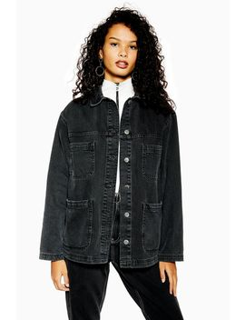 Oversized Denim Shacket by Topshop