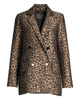 Francs Leopard Print Jacquard Jacket by Mother Of Pearl
