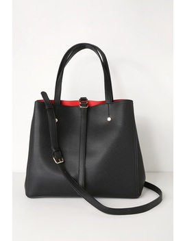 Back To Business Black Tote by Lulus