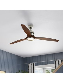 "60"" Harmoneyq 3 Blade Ceiling Fan With Remote Control by Orren Ellis"