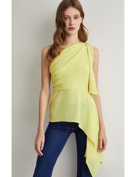 Draped Shoulder Top by Bcbgmaxazria