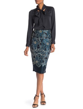 Pull On Floral Printed Skirt by Eci