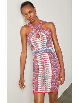 Padma Jacquard Halter Dress by Bcbgmaxazria